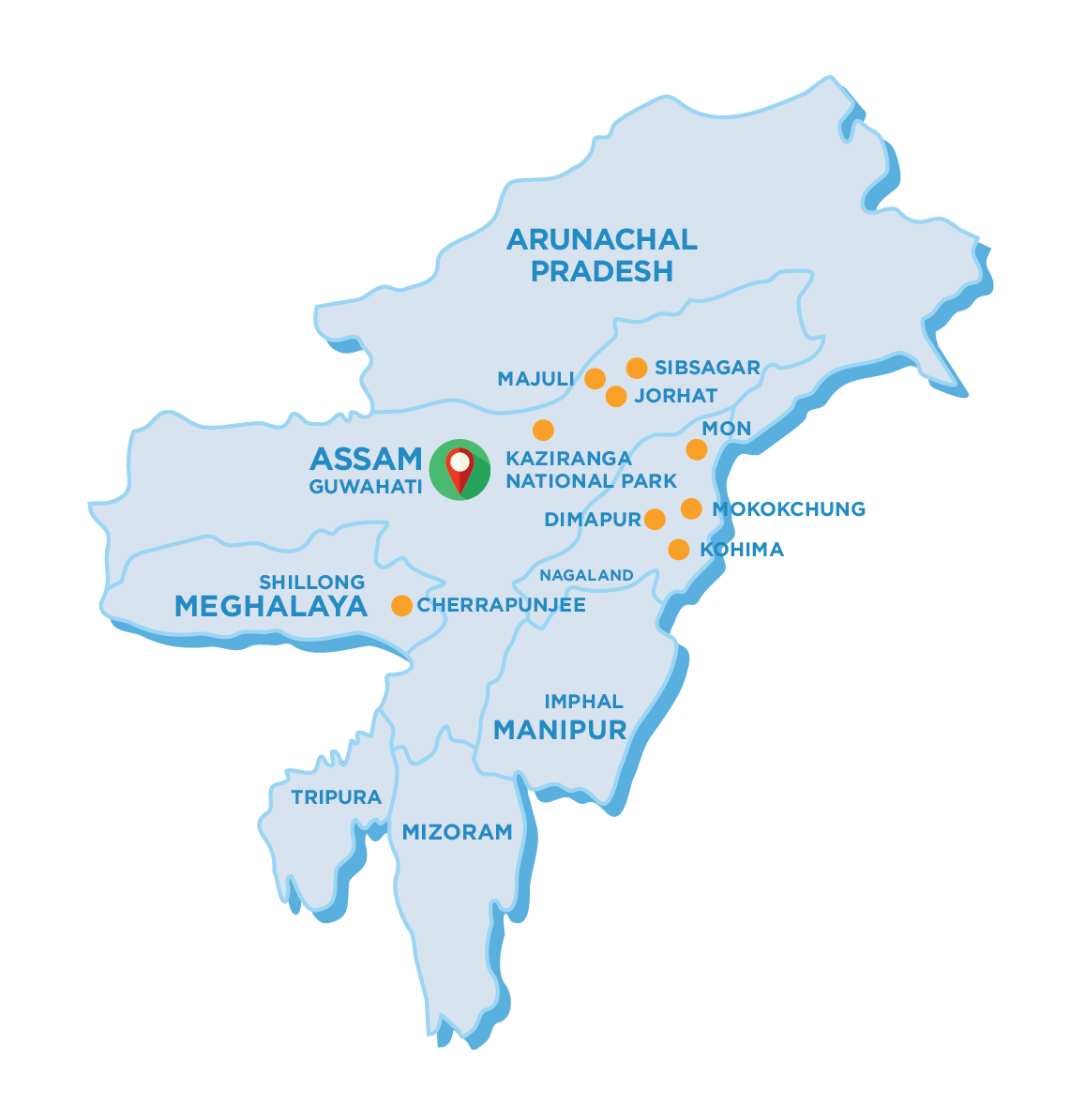 15 days North East India Tour