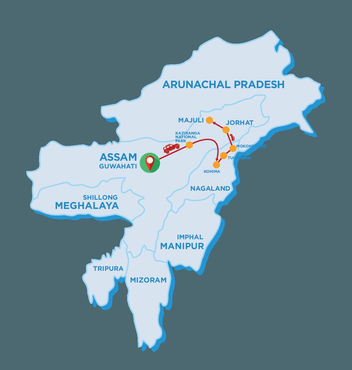 Tour Map of Hornbill Festival