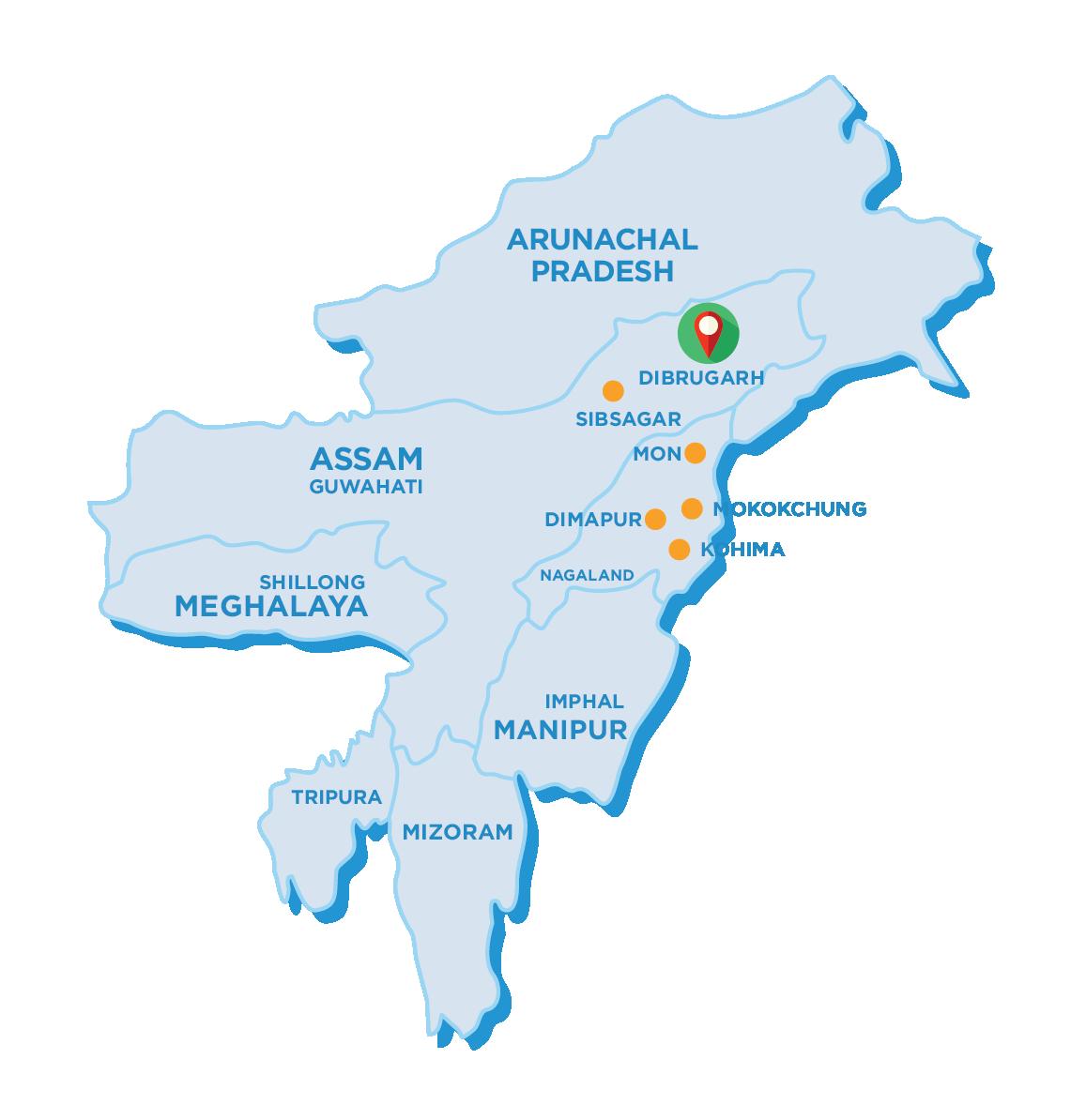 Tour Map of Aoling Festival Tour