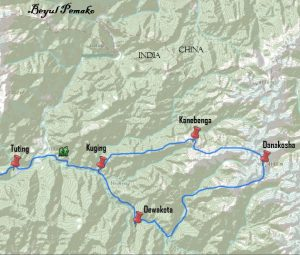 Tour Map of Buddhist Pilgrimage